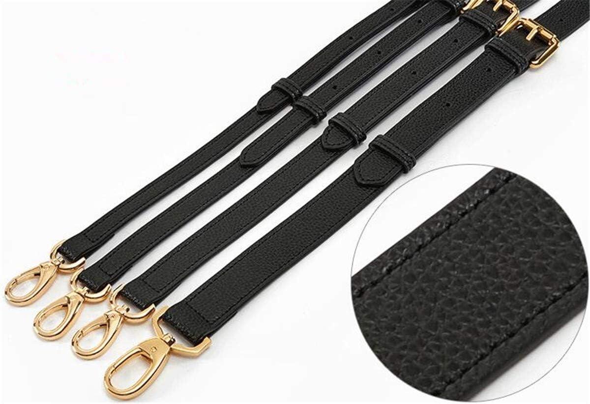 Mdurian Replacement Leather Purse Strap Black Adjustable For Crossbody Shoulder Handbags Bag Buckles DIY 1.2 130cm