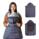 Bebenuvo Universal Hoodie All Season Carrier Cover for Baby Carrier Warmer / Bunting / Stroller Footmuff (5 Colors avalible) - Navy Kitty