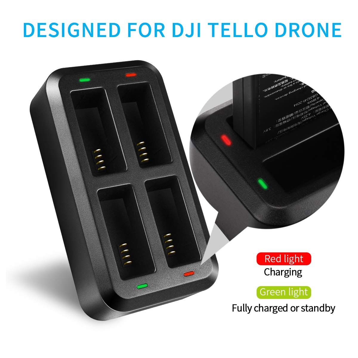 61% discount on Keenstone Tello Battery Charger Portable, 4 in 1