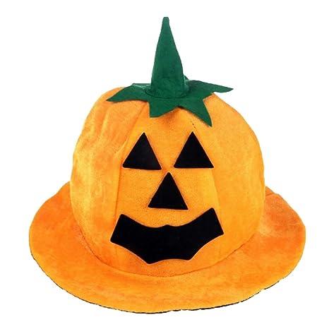 Cappello Della Zucca Di Halloween Costume Fantasia Rifornimenti Vestito  Partito Puntelli Cosplay Decorazione 7b583e307e27