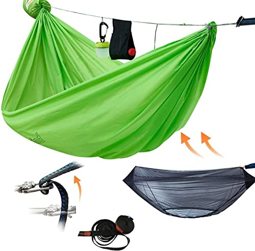 onewind Double Camping Hammock Mosquito Net Bundle-Tree Straps