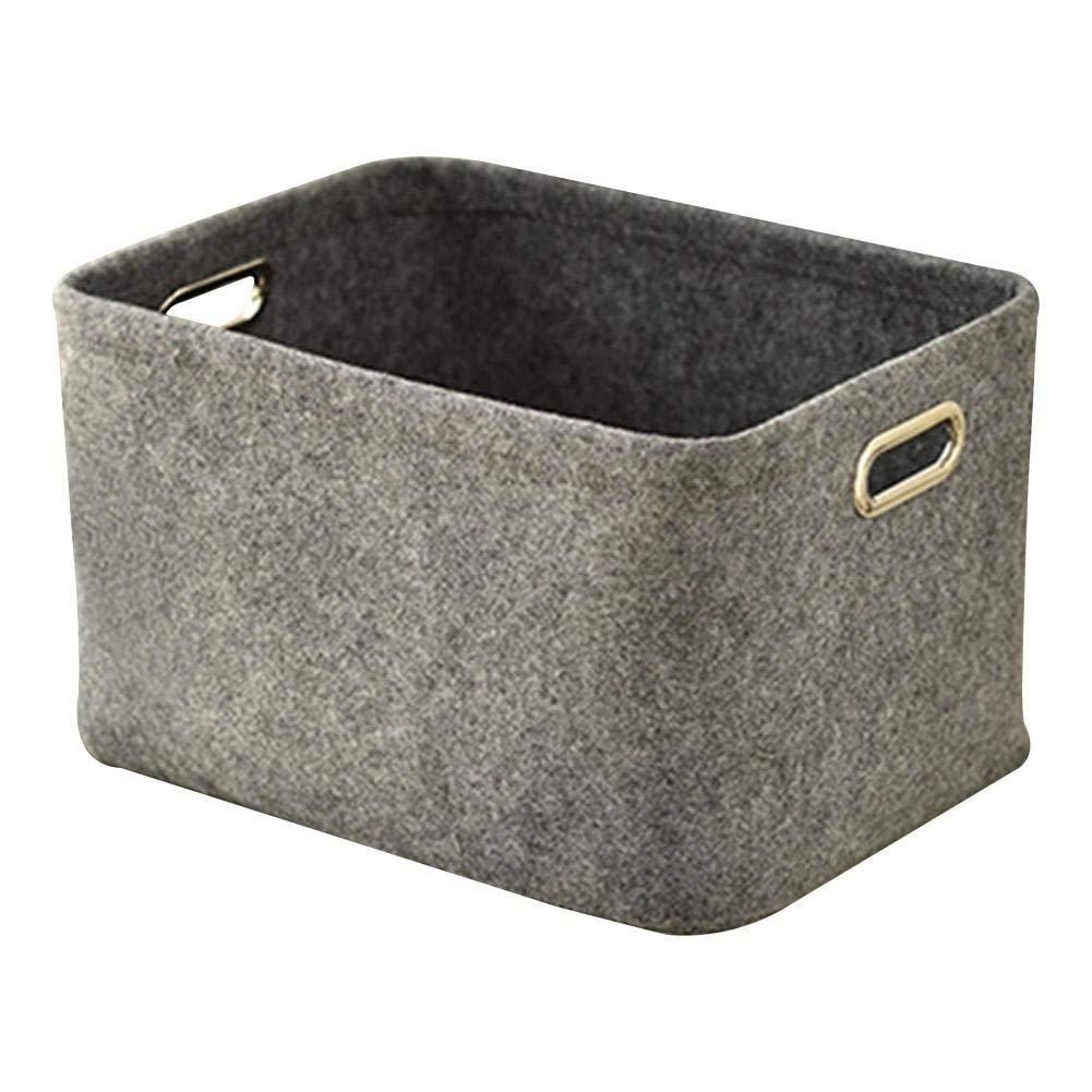 a Forma di cubo in Tessuto Grande capacit/à Grigio Chiaro Giocattolo Ritapreaty Cesto portabiancheria in Feltro Rechteck per Vestiti
