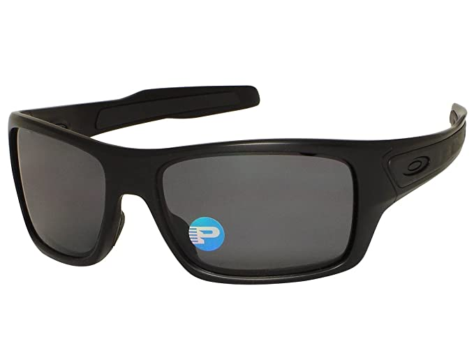4671d58010 Image Unavailable. Image not available for. Colour  Oakley Turbine  OO9263-07 Matte Black Polarized Sunglasses