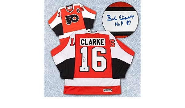Bobby Clarke Philadelphia Flyers Autographed Stanley Cup Retro CCM Jersey -  Signed Hockey Jerseys at Amazon s Sports Collectibles Store 6391a8285