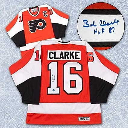Image Unavailable. Image not available for. Color  Bobby Clarke Philadelphia  Flyers Autographed Stanley Cup Retro CCM Jersey ... d84dbcfad
