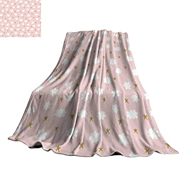 Amazon.com: Baby Home Throw Blanket Stars and Clouds Cute ...