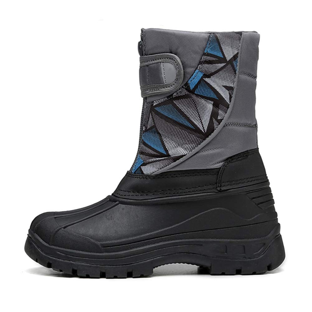 LGXH Outdoor Boys Girls Snow Boots Waterproof Non-Slip Cotton Toddlers Kids Winter Warm Shoe with Zipper