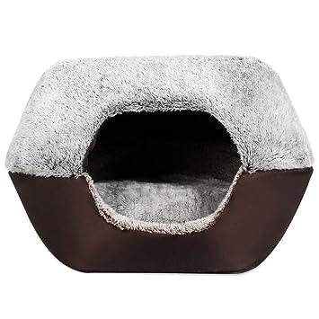 Cama perfectii cama Perros y Gatos, perros Casa Mascotas Zwinger Arrugas portátil perro gato cama tienda desmontable para perro gato pequeño Animales: ...