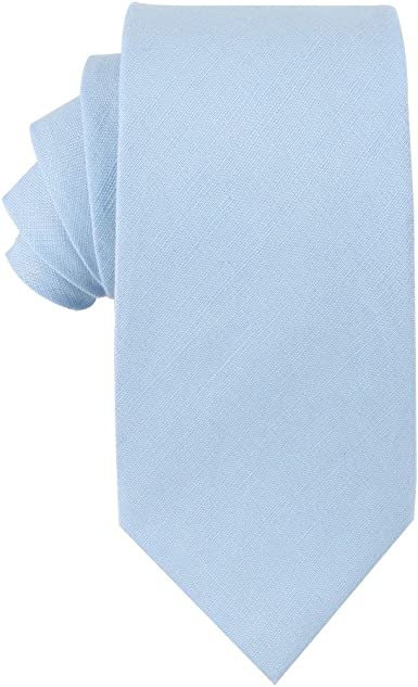 cravatta magra, fard blu cravatta per lo sposo AUSCUFFLINKS Uomo Cravatte di lino magre di cotone legami di nozze per testimoni dello sposo