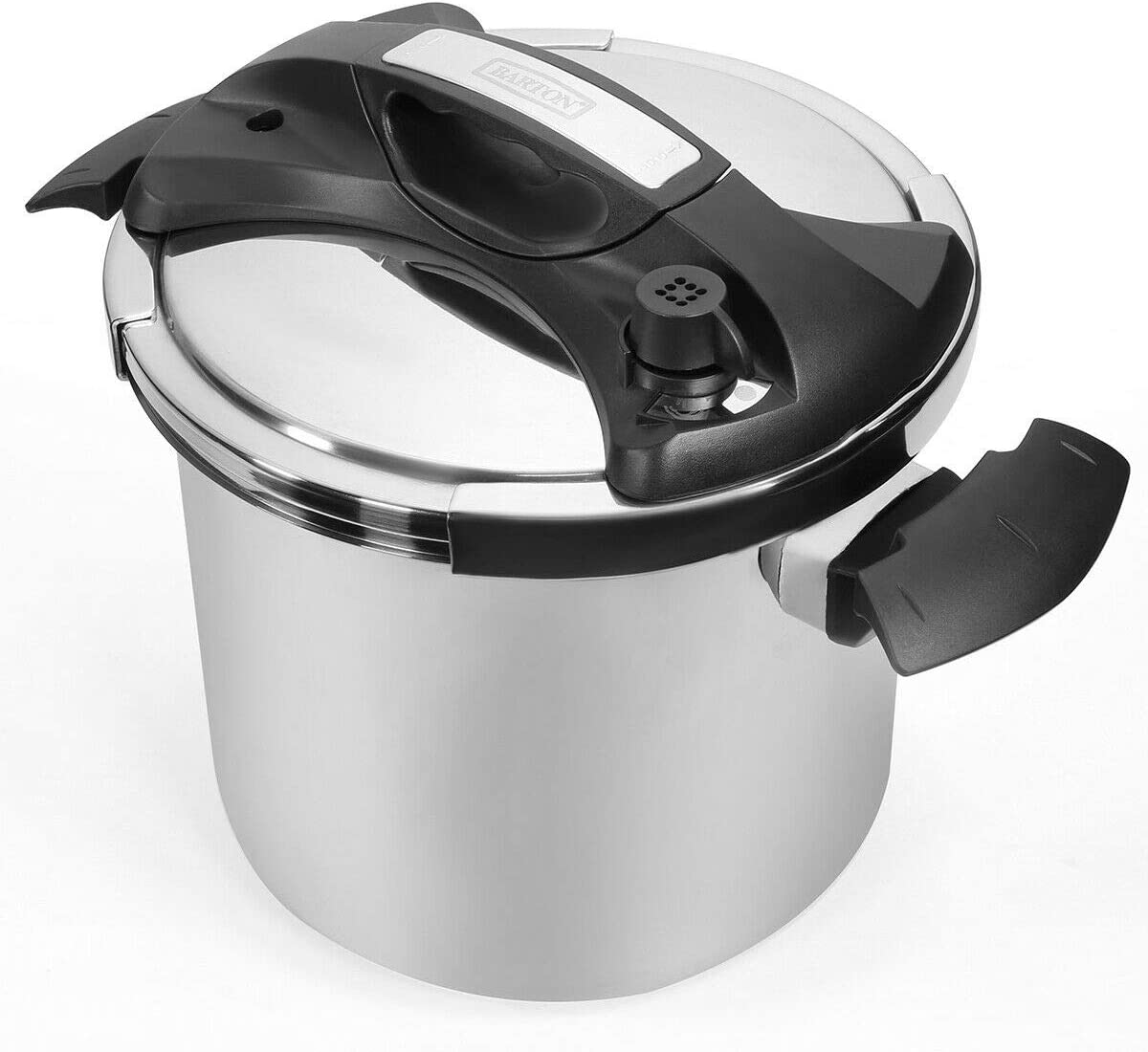 Turbo Pressure Cooker Stovetop 10 Quart Easy-Lock Lid Induction Compatible 10QT, Silver