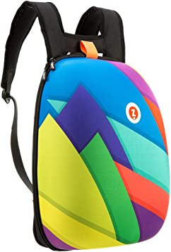 ZIPIT Shell Backpack for Girls and Teens, School Book Bag, Water Repellent, Lightweight & Sturdy (Colorful)