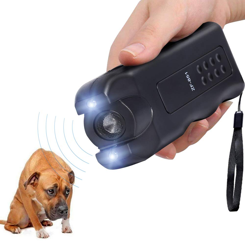 Vicvol Electronic Dog Repeller,Pet Dog Trainer with LED Flashlight, Ultrasonic Deterrent Device for Your Safety and Train Your Dog