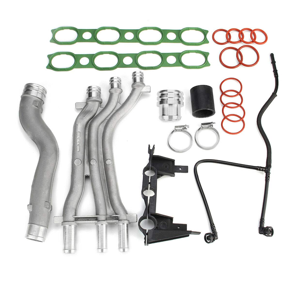 Engine Coolant Pipe Upgrade Kit for 2003-2006 Porsche Cayenne Turbo//Turbo S 4.5 V8