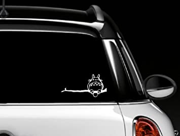 Amazoncom Totoro Car Window Decal Vinyl Sticker Home Kitchen - Vinyl stickers for car windows