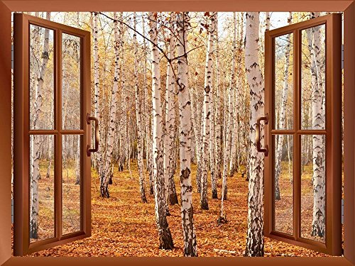 Autumn Birch Forest Removable Wall Sticker Wall Mural