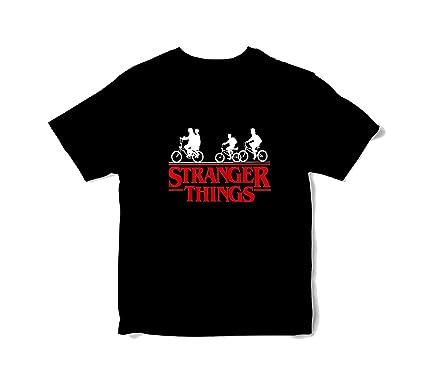 LABSALE Camiseta Negra BASADA EN Stranger Things. Logo Bicicletas ...