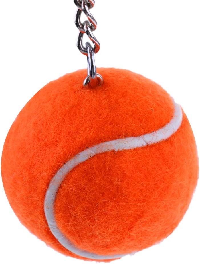 Orange Hellery Mini Balle De Tennis Porte-cl/és Porte-cl/és T/él/éphone Ornement T/él/éphone Souvenir De Tennis