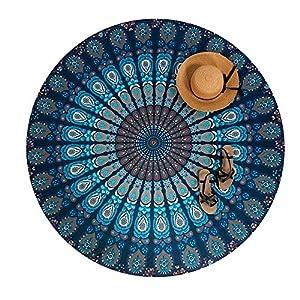 Shop-STORY – Pareo Hippie Chic/toalla de playa redonda estampada azteca, diseño de Sarong Ocean | DeHippies.com