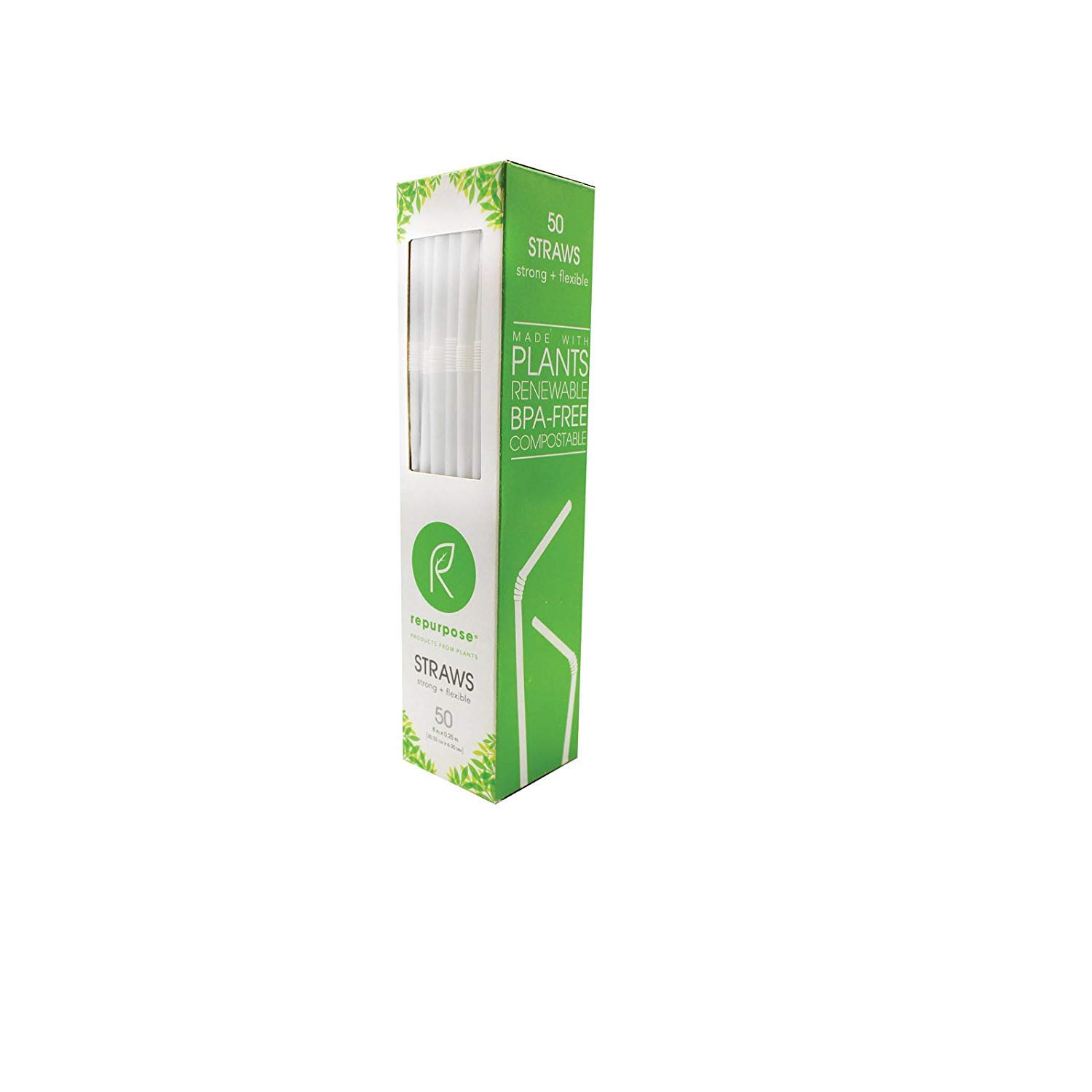 Repurpose 2173458 Compostable Straws - Case of 20 & 50 Count