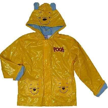 Disney Winnie The Pooh oso niños Chubasquero Chaqueta con capucha Amarillo 104