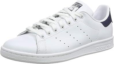 adidas Men's Stan Smith Gymnastics Shoes, Running White/New Navy, 18 UK