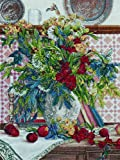 Bucilla Heirloom Collection Counted Cross Stitch Picture Kit, 45669 Floral with Fruit