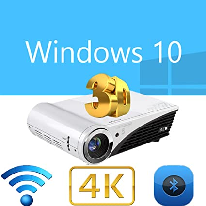 nierbo proyector 1080p 4 K Decodificación Chip Full 3d Windows 10 ...