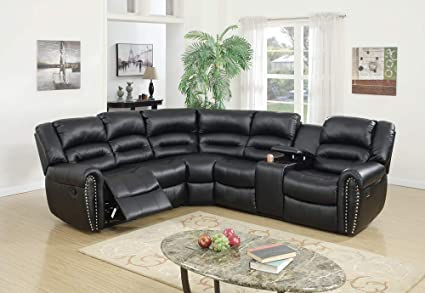 Amazon.com: Benzara BM166729 Bonded Leather 3 Piece ...