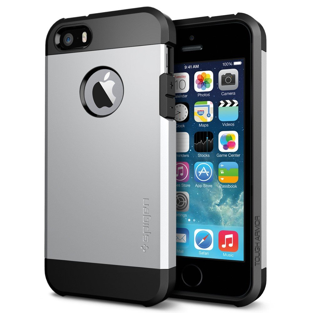 Rich spigen back cover for apple iphone 55s silver amazon rich spigen back cover for apple iphone 55s silver amazon electronics reheart Gallery