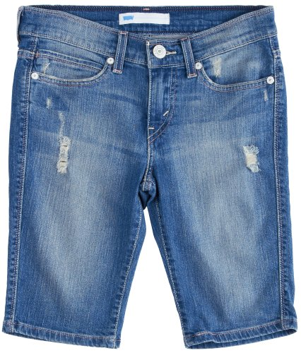 32b5c2ff Levi's Juniors Hemmed Bermuda Short, Filtered Light With Destruction, 27/5  - Buy Online in Oman. | Apparel Products in Oman - See Prices, Reviews and  Free ...
