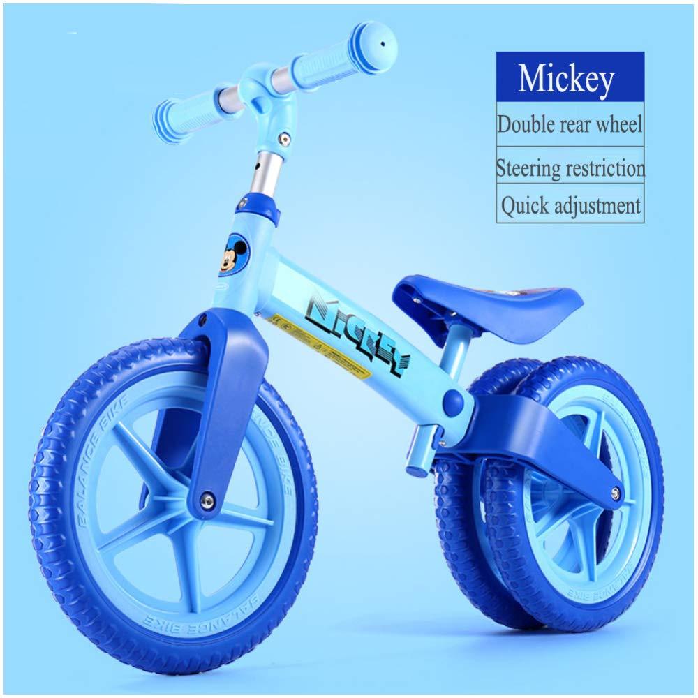 CHRISTMAD Baby Balance Bike Verstellbare Lenker Und Sitzhöhe Für 2-5 Jahre Alt Anti-Skid Lernen, Baby Walker Roller Sport Fahrrad Baby Walker Zu Reiten,B