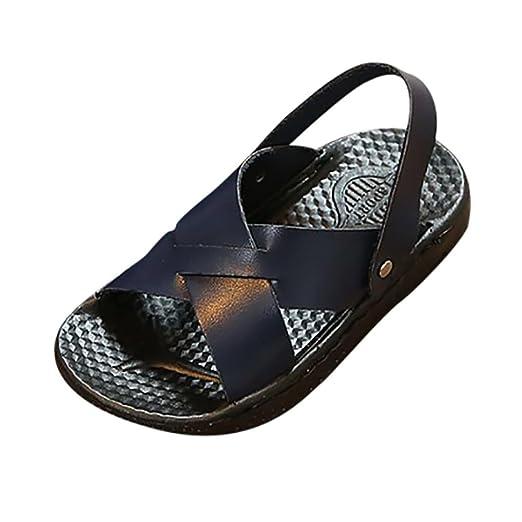4da53a0398eba9 Axinke Casual Open Toe Slip-on Summer Slides Slippers Flat Sandals for  Toddler Girls