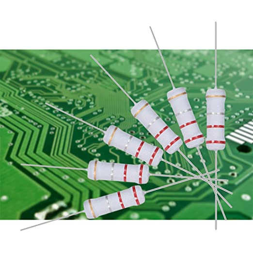 sourcing map 30 Pz Metallo Ossido Pellicola Resistore 2W 5/% Tolleranza Filo Assiale Ignifugo 0.22 Ohm Resistenza per Fai-da-Te Elettronico Progetti