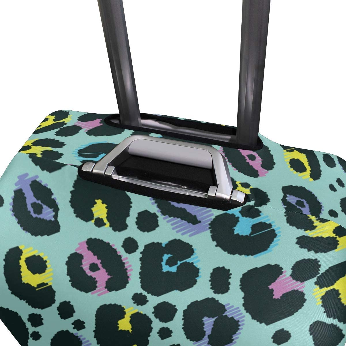 Travel Luggage Cover Colorful Abstract Animal Stains Suitcase Protector