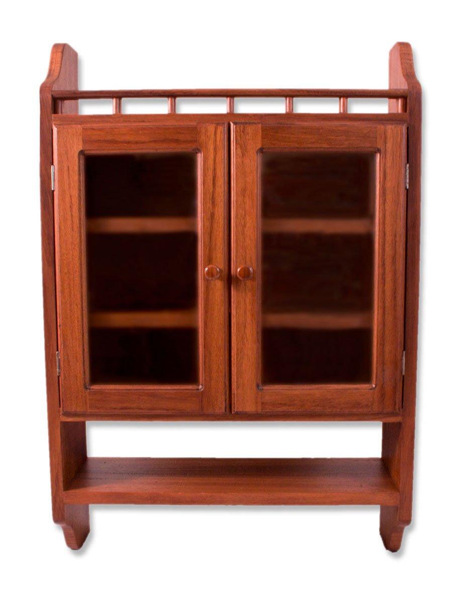 NOVICA Parota Wood Cabinet, 36'' Tall, Brown, 'Hacienda'