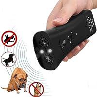 KOBWA Handheld Dog Repellent & Trainer, Dual Channel Ultrasonic Anti Barking Device 3 en 1 Repeller Dog / outil de formation / Arrêtez d'aboyer avec lampe de poche LED - 100% sans danger