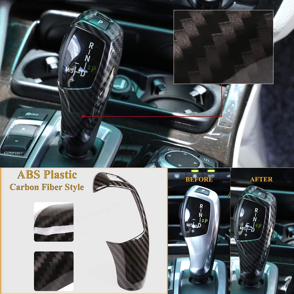 ABS Carbon Fiber Car Gear Shift Cover Knob Head Cap Cover Sticker Trim Decal housesweet Gear Knob Cap