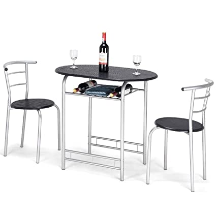 Amazoncom Giantex Bistro Dining Set Table And Chairs Kitchen - Restaurant table and chair sets
