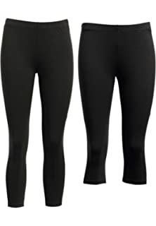 1X Ellos Women/'s Plus Size Leggings Black
