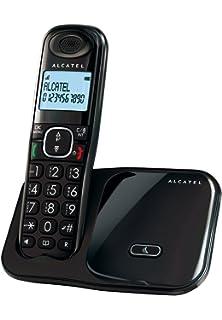Alcatel D135 - Teléfono inalámbrico, color negro: Amazon.es: Electrónica