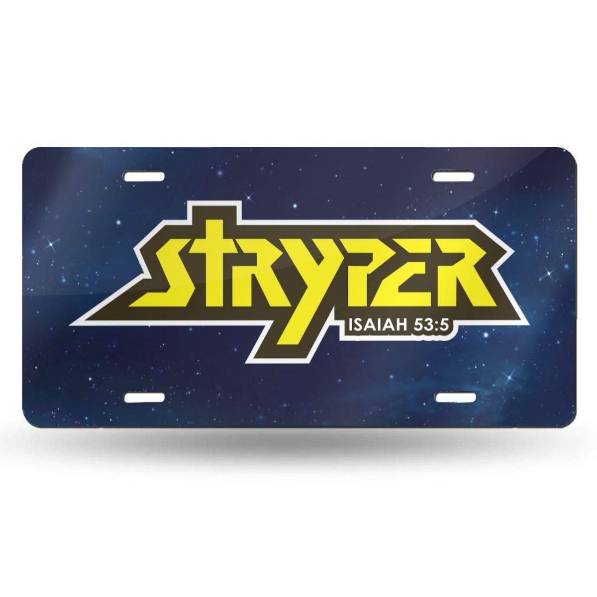 DoloresJSegura Stryper Stylish and Innovative Aluminum License Plate Manhole Decoration 6x12 Inches Home Wall-Mounted License Plate