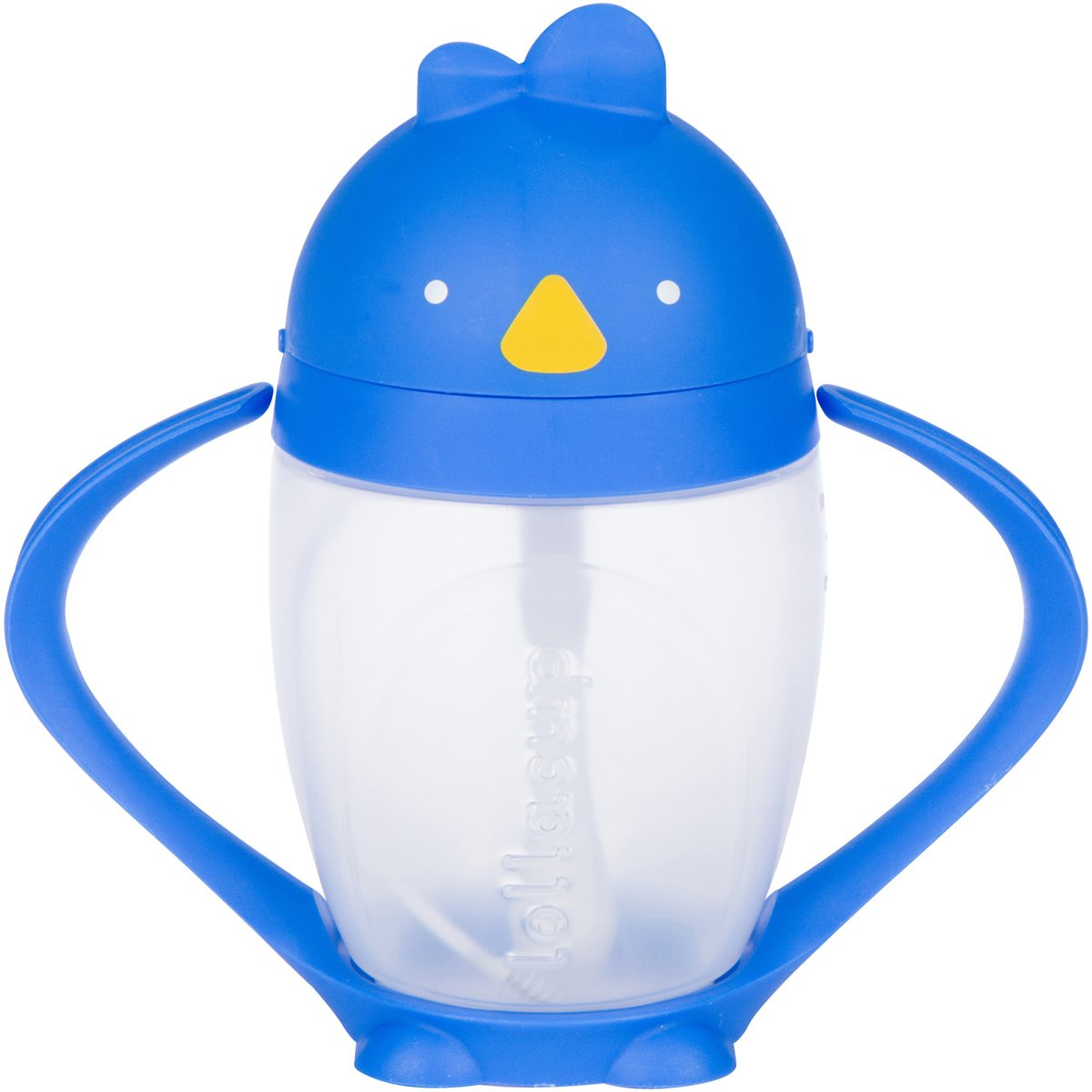 Lollaland Lollacup (Blue) | 10 oz Sippy Cup with Weighted Straw - Made in USA - Includes Straw-Cleaning Brush - BPS/BPA/Phthalate Free - FDA Approved - Valve Free - Detachable Handle