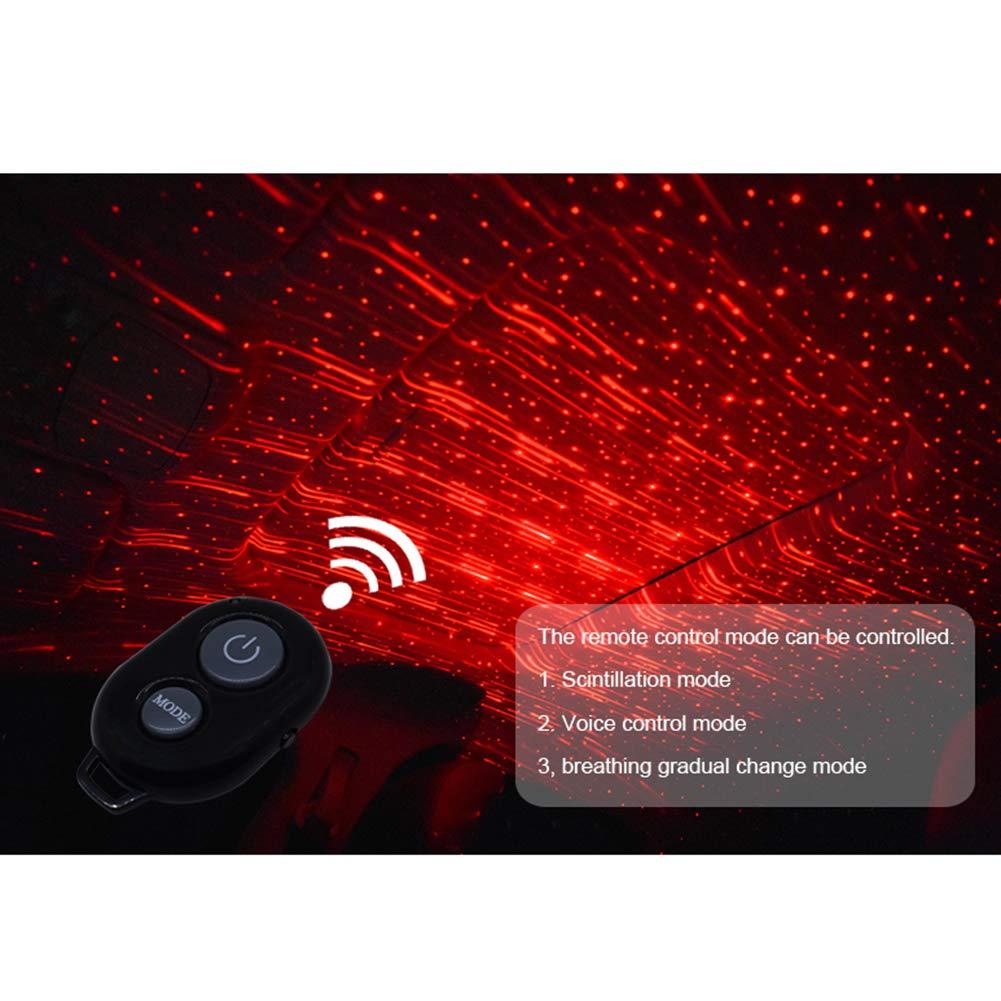 Luce di proiezione per Interni Auto Decorazione Romantica con Telecomando GoodFaith con Luce LED Rossa Telecomando USB Colore: Nero