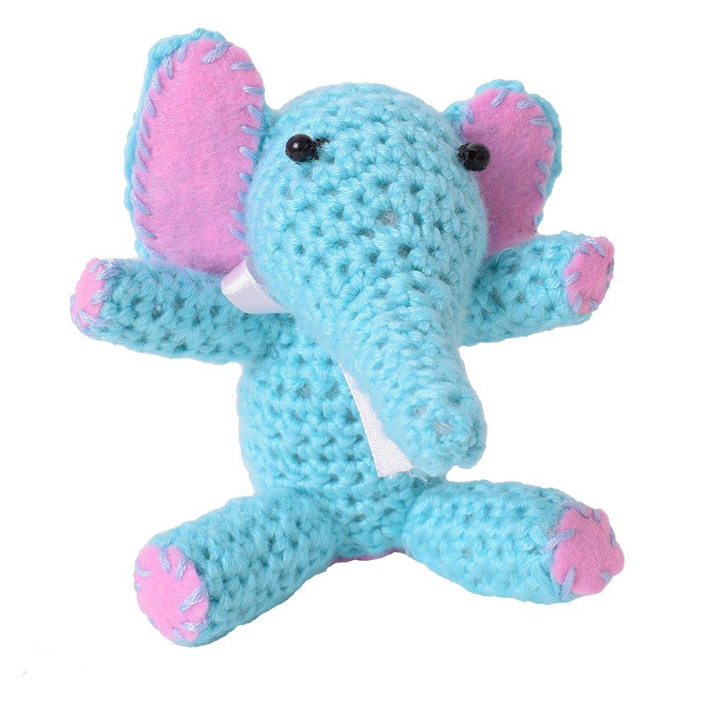 Te Decoart 2 Stück Diy Mini Häkelset Bastelset Häkeltier Elefant Zum