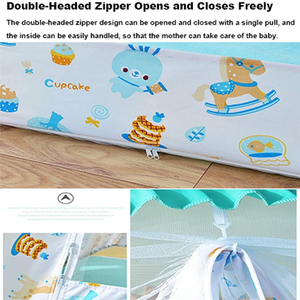 Boden Anti M/ückenstiche f/ür Bett Camping Travel Home Outdoor ,65 * 120cm blau JHDUID Pop Up Moskitonetz f/ür Studentenbett Babybett