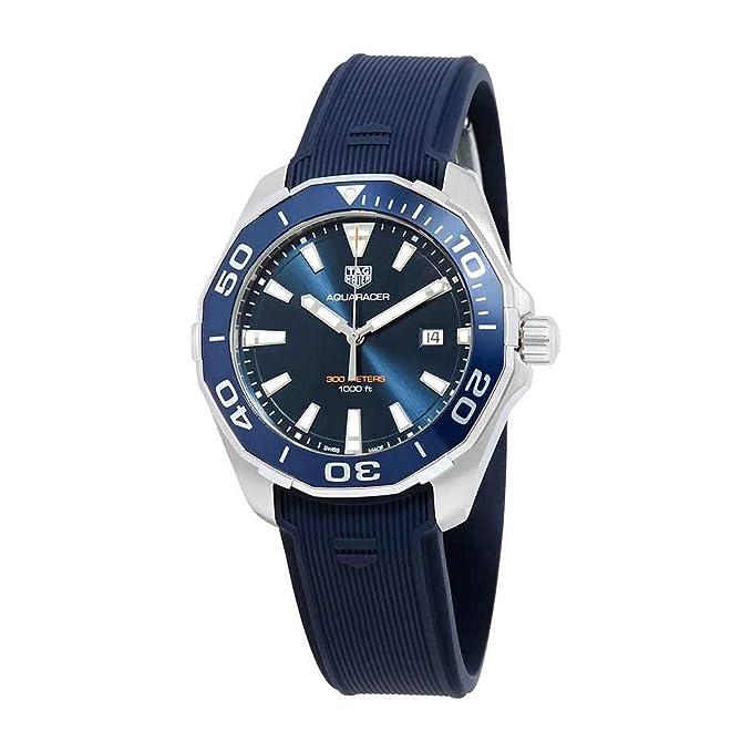 TAG Heuer Men's Aquaracer 43mm Blue Rubber Band Quartz Watch WAY101C.FT6153