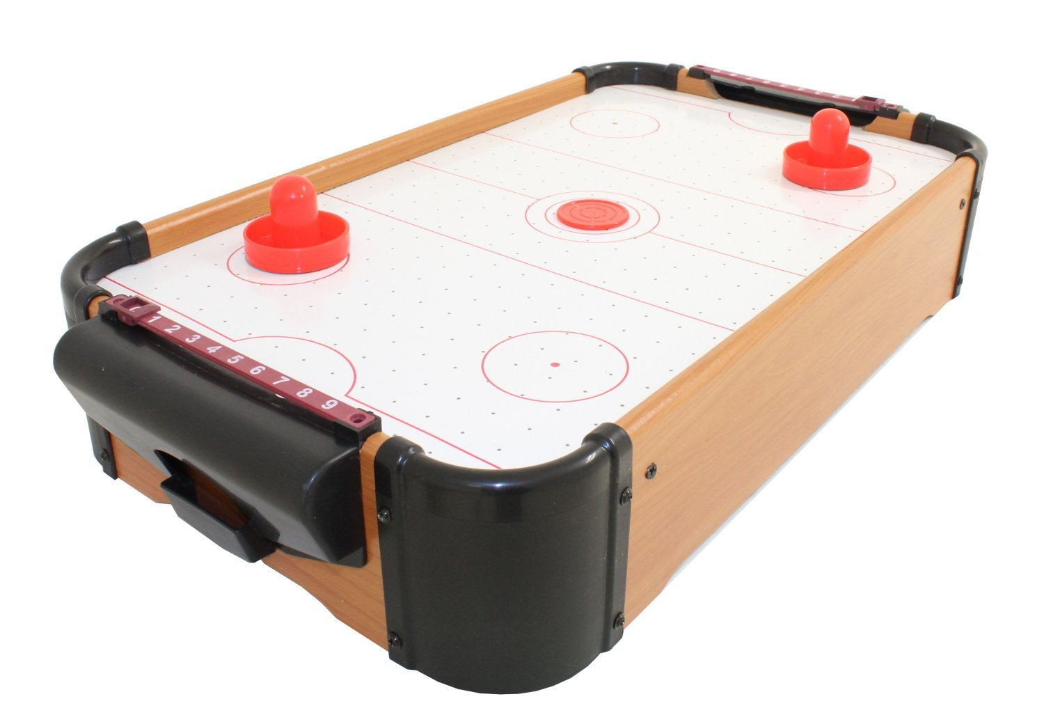 Electric Home Table Top Air Hockey Family Game Pucks Paddles global gizmos
