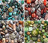 150g Luxury mixed lot of Glass Tibetan Wood Jewellery Making Beads (Red)