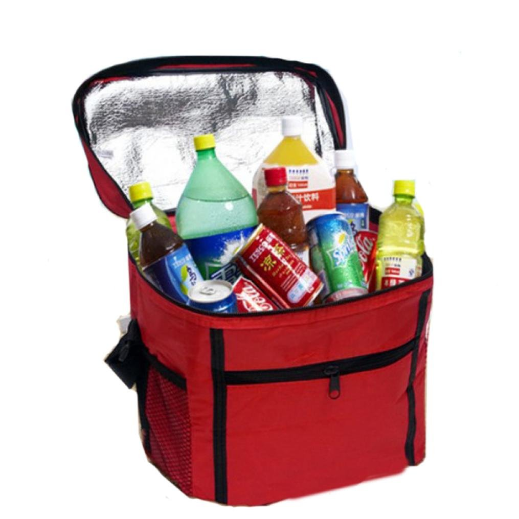 (Red) - Clearance Deal Picnic Lunch Bag, Fitfulvan Thermal Cooler Waterproof Insulated Portable Tote Picnic Lunch Bag New (Red)  レッド B07CNYV6VR
