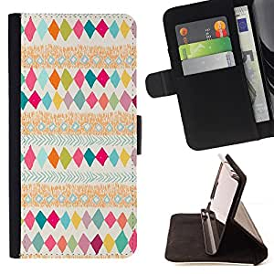 - Colorful Native Pattern Kids - Estilo PU billetera de cuero del soporte del tir???¡¯????n [solapa de cierre] Cubierta- For HTC Desire 820 £¨ Devil Case £©